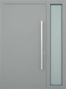 Вхідні алюмінієві двері Creo wisniowski. Права фрамуга (PD)