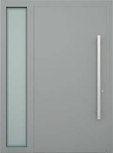 Вхідні алюмінієві двері Creo wisniowski. Ліва фрамуга (LD)