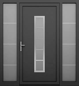 Алюмінієві зовнішні двері Deco wisniowski. Права + ліва фрамуга (PD+LD)