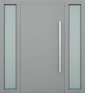 Вхідні алюмінієві двері Creo wisniowski. Права + ліва фрамуга (PD+LD)
