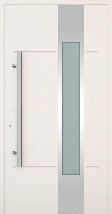 Вхідні алюмінієві двері Creo wisniowski. Модель 323