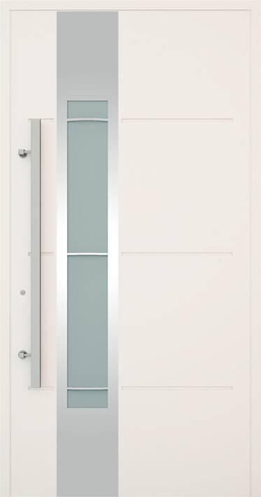 Вхідні алюмінієві двері Creo wisniowski. Модель 324
