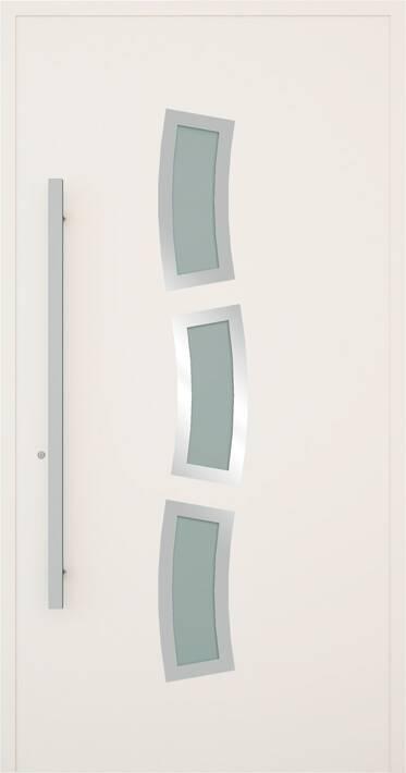 Вхідні алюмінієві двері Creo wisniowski. Модель 334