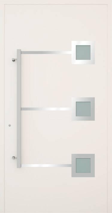 Вхідні алюмінієві двері Creo wisniowski. Модель 338
