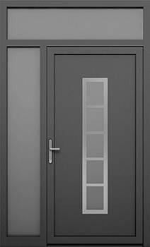 Алюмінієві зовнішні двері Deco wisniowski. Ліва фрамуга + верхня фрамуга (LD+GD)