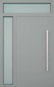 Вхідні алюмінієві двері Creo wisniowski. Ліва фрамуга + верхня фрамуга (LD+GD)
