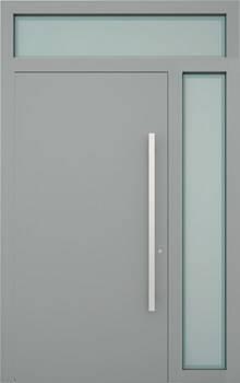 Вхідні алюмінієві двері Creo wisniowski. Права фрамуга + верхня фрамуга (PD+GD)