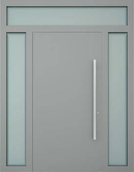 Вхідні алюмінієві двері Creo wisniowski. Права + ліва + верхня фрамуга (PD+LD+GD)