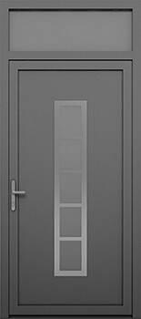 Алюмінієві зовнішні двері Deco wisniowski. Верхня фрамуга (GD)