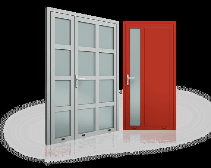 Алюмінієві зовнішні двері Plus Line