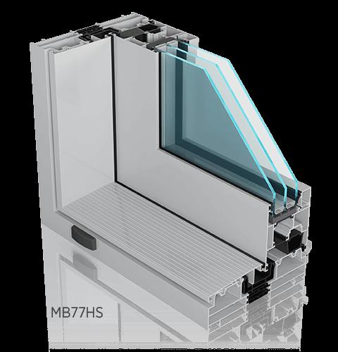Алюмінієві терасні підйомно-розсувні двері ALUPROF MB77HS ST