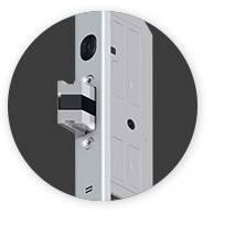 Вхідні алюмінієві двері Creo wisniowski. Трьох точковий замок електричний Autotronic-2