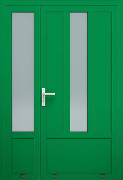 Алюмінієві зовнішні двері Plus Line wisniowski. AW 001-2 | RAL 6029