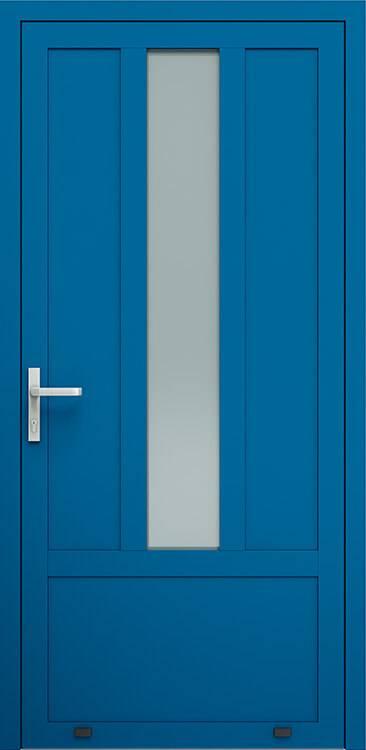 Алюмінієві зовнішні двері Plus Line wisniowski. AW 001 | RAL 5010