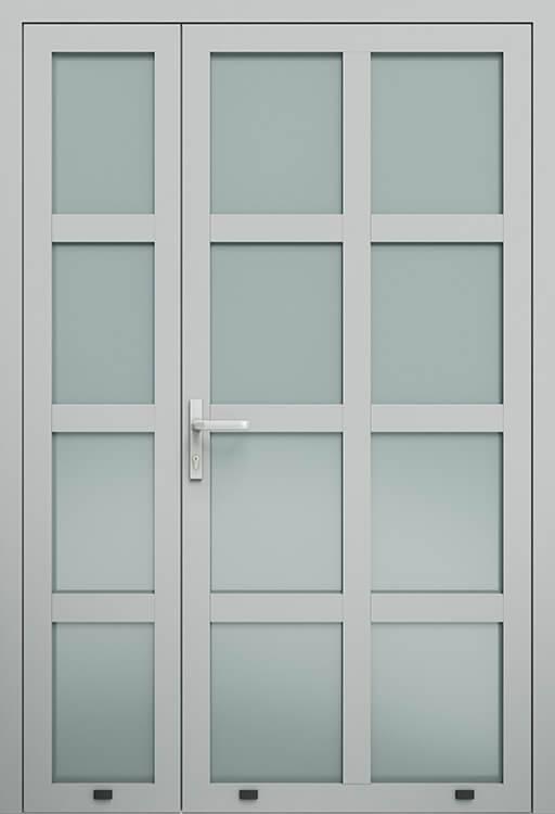 Алюмінієві зовнішні двері Plus Line wisniowski. AW 002-2 | RAL 9006