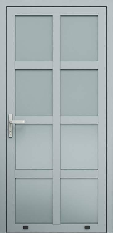 Алюмінієві зовнішні двері Plus Line wisniowski. AW 002 | RAL 7040