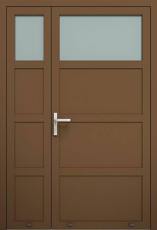 Алюмінієві зовнішні двері Plus Line wisniowski. AW 006-2 | RAL 8014