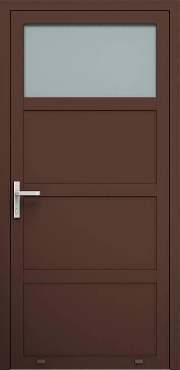Алюмінієві зовнішні двері Plus Line wisniowski. AW 006 | RAL 8017