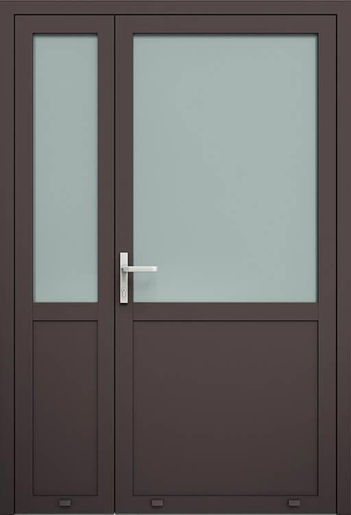Алюмінієві зовнішні двері Plus Line wisniowski. AW 007-2 | RAL 8019