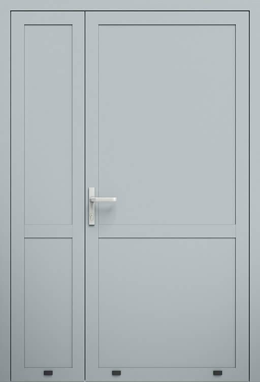 Алюмінієві зовнішні двері Plus Line wisniowski. AW 007-2/P | RAL 7040