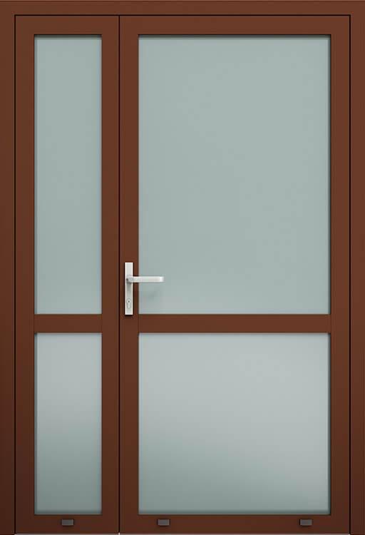 Алюмінієві зовнішні двері Plus Line wisniowski. AW 007-2S | RAL 8016