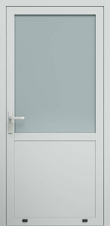 Алюмінієві зовнішні двері Plus Line wisniowski. AW 007 | RAL 7035