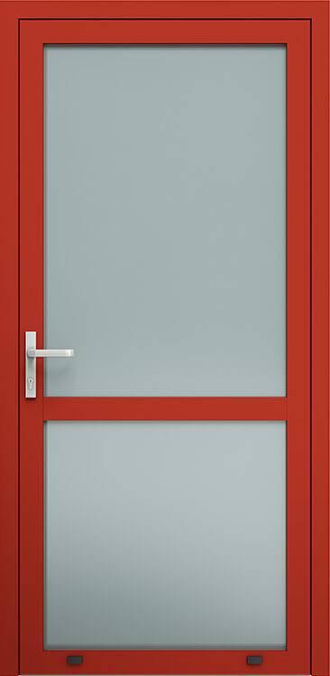 Алюмінієві зовнішні двері Plus Line wisniowski. AW 007S | RAL 3000