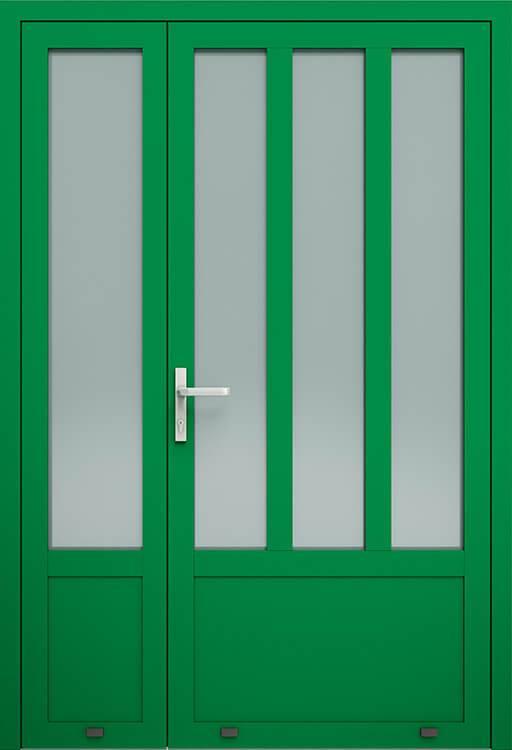 Алюмінієві зовнішні двері Plus Line wisniowski. AW 008-2 | RAL 6029
