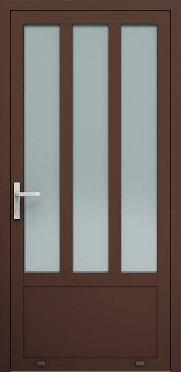 Алюмінієві зовнішні двері Plus Line wisniowski. AW 008 | RAL 8017