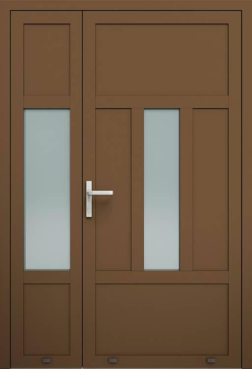 Алюмінієві зовнішні двері Plus Line wisniowski. AW 011-2 | RAL 8014