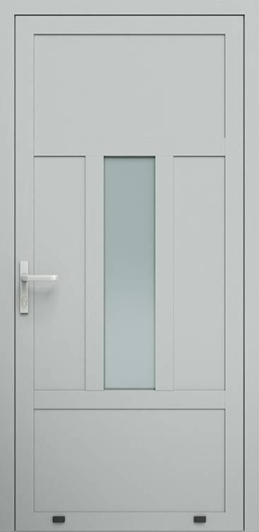 Алюмінієві зовнішні двері Plus Line wisniowski. AW 011 | RAL 9006