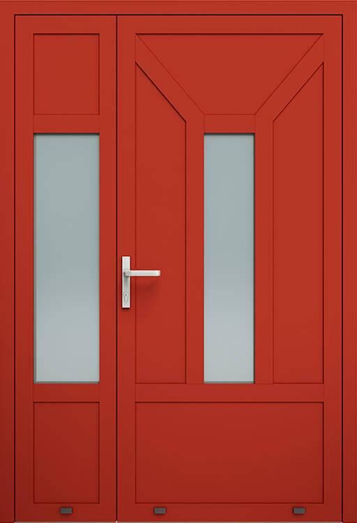 Алюмінієві зовнішні двері Plus Line wisniowski. AW 012-2 | RAL 3000
