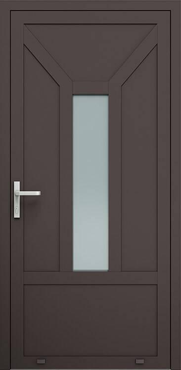 Алюмінієві зовнішні двері Plus Line wisniowski. AW 012 | RAL 8019