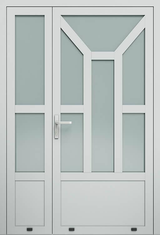 Алюмінієві зовнішні двері Plus Line wisniowski. AW 013-2 | RAL 7035