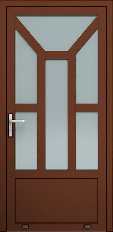 Алюмінієві зовнішні двері Plus Line wisniowski. AW 013 | RAL 8016