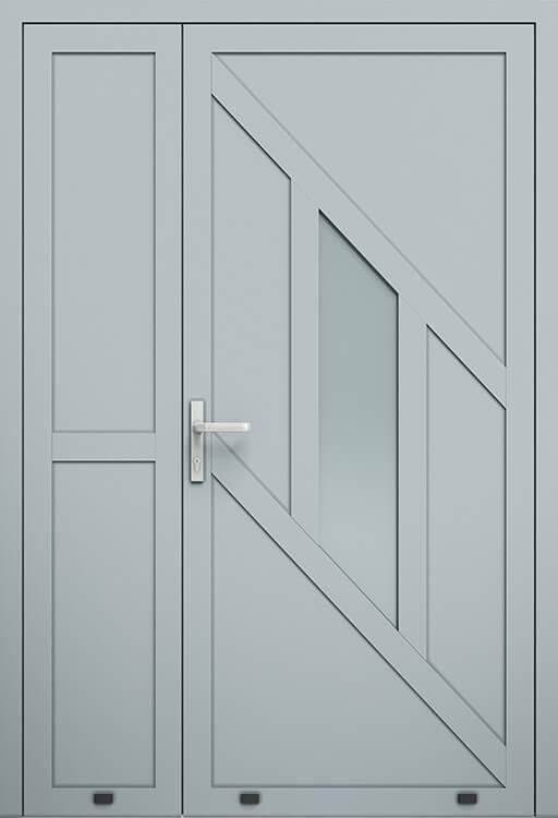 Алюмінієві зовнішні двері Plus Line wisniowski. AW 014-2 | RAL 7040
