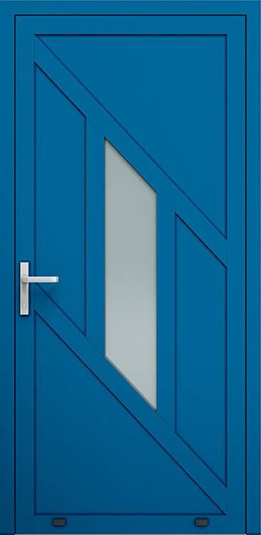 Алюмінієві зовнішні двері Plus Line wisniowski. AW 014 | RAL 5010