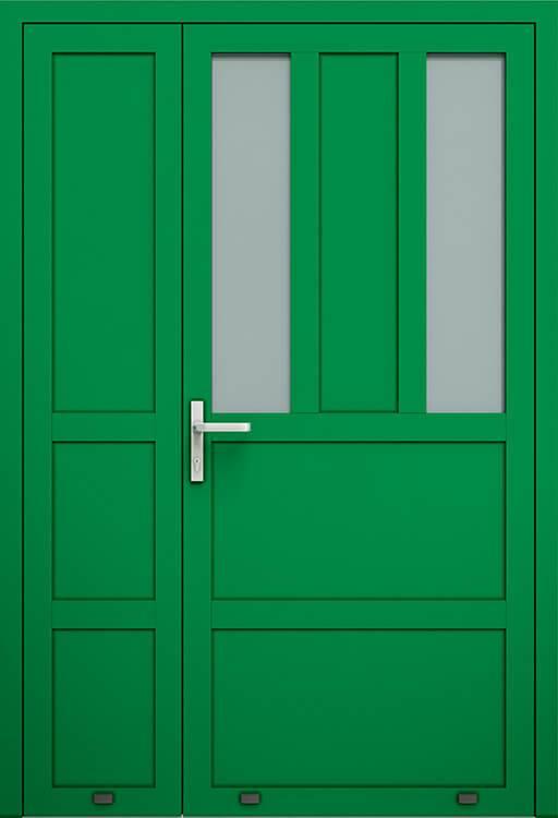 Алюмінієві зовнішні двері Plus Line wisniowski. AW 016-2 | RAL 6029