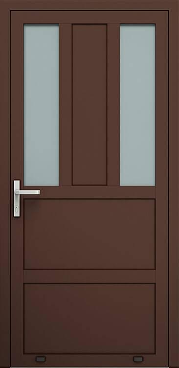 Алюмінієві зовнішні двері Plus Line wisniowski. AW 016 | RAL 8017