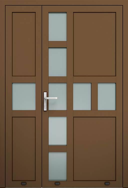 Алюмінієві зовнішні двері Plus Line wisniowski. AW 019-2 | RAL 8014