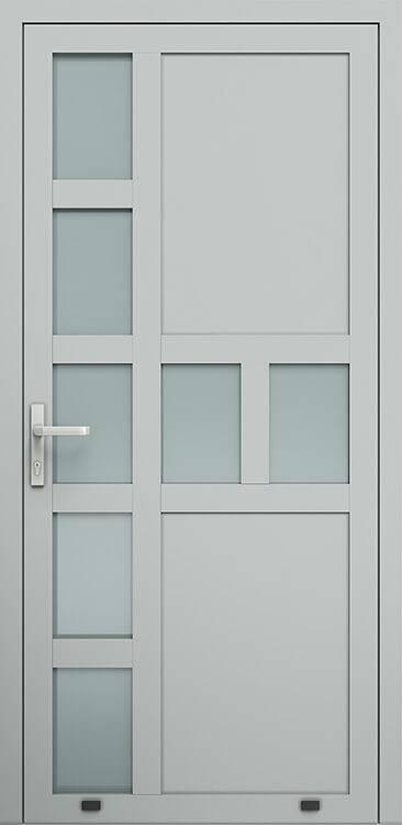 Алюмінієві зовнішні двері Plus Line wisniowski. AW 019 | RAL 9006