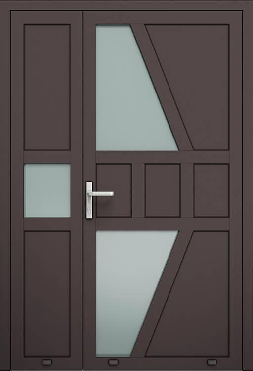 Алюмінієві зовнішні двері Plus Line wisniowski. AW 020-2 | RAL 8019