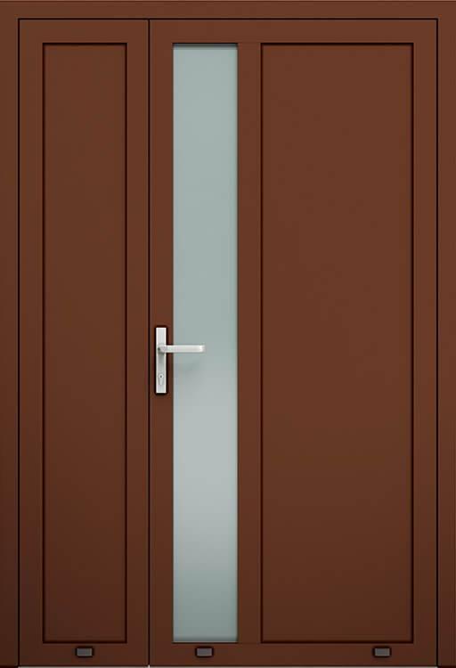 Алюмінієві зовнішні двері Plus Line wisniowski. AW 021-2 | RAL 8016