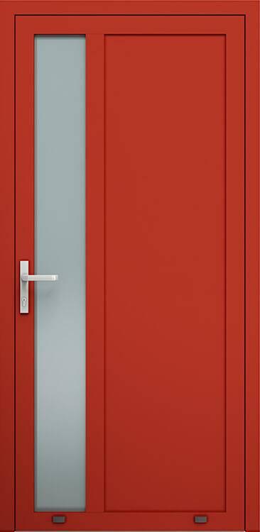Алюмінієві зовнішні двері Plus Line wisniowski. AW 021 | RAL 3000