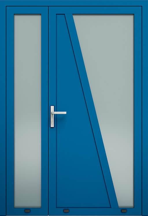 Алюмінієві зовнішні двері Plus Line wisniowski. AW 022-2 | RAL 5010