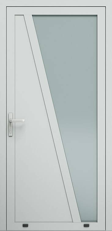 Алюмінієві зовнішні двері Plus Line wisniowski. AW 022 | RAL 7035