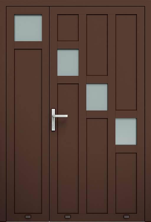 Алюмінієві зовнішні двері Plus Line wisniowski. AW 023-2 | RAL 8017