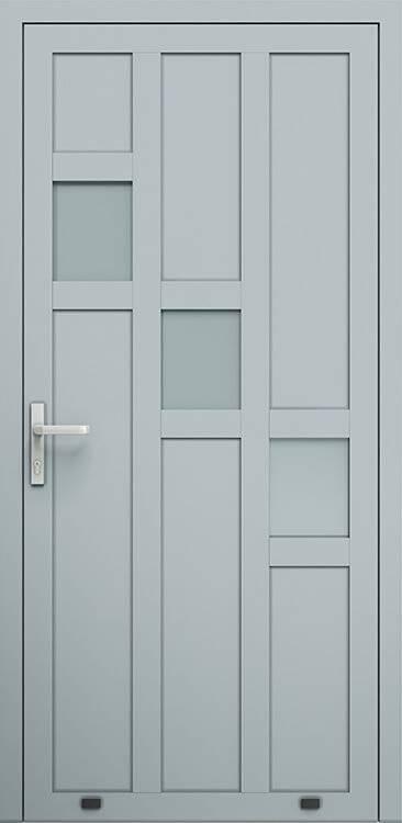 Алюмінієві зовнішні двері Plus Line wisniowski. AW 023 | RAL 7040