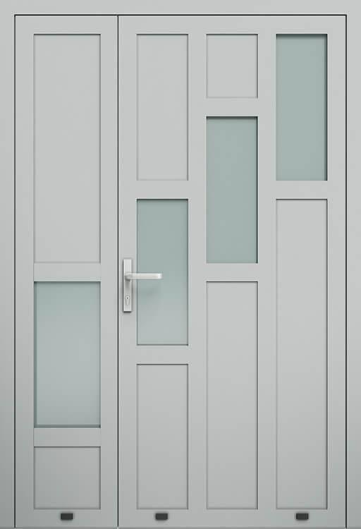 Алюмінієві зовнішні двері Plus Line wisniowski. AW 024-2 | RAL 9006