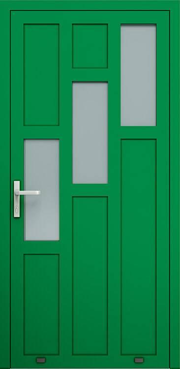 Алюмінієві зовнішні двері Plus Line wisniowski. AW 024 | RAL 6029